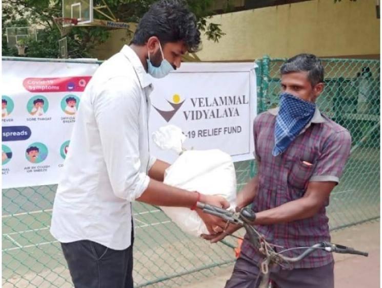 Velammal Nexus school undertakes corona relief measures