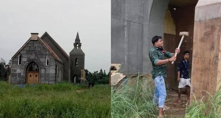 Tovino Thomas Minnal Murali Church Set Destroyed