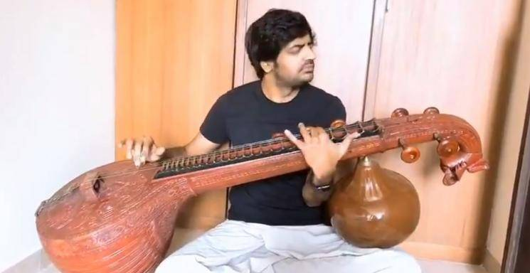 Sathish Shares Veena Instrument Playing Video