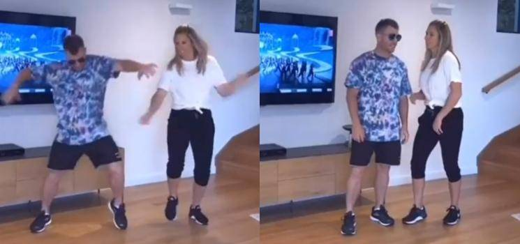 David Warner and his wife Candice's TikTok video of the viral hit Mind Block song!