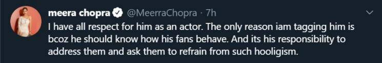Meera Chopra gets gangrape threats for not knowing a South Indian Superstar