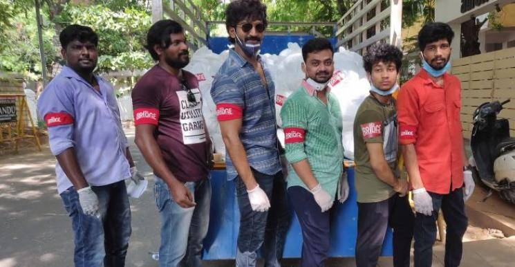 Adhi Distributed Food Essentials To Cinema Workers