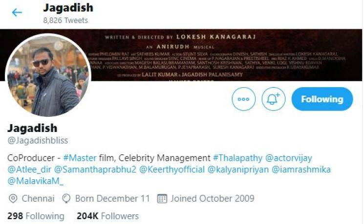 Breaking Thalapathy Vijay Jagdish fight rumour clarification Master