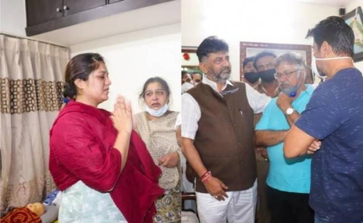 Heartbreaking video of Meghana Raj from her husband's funeral | Chiranjeevi Sarja