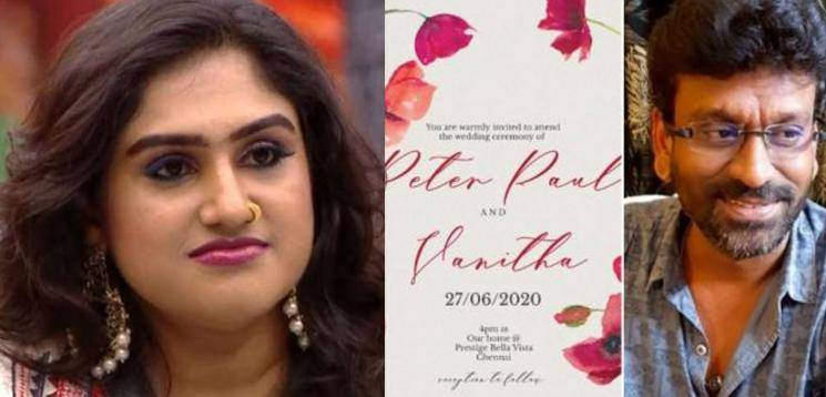Vanitha Vijayakumar To Marry Filmmaker Peter Paul On June 27