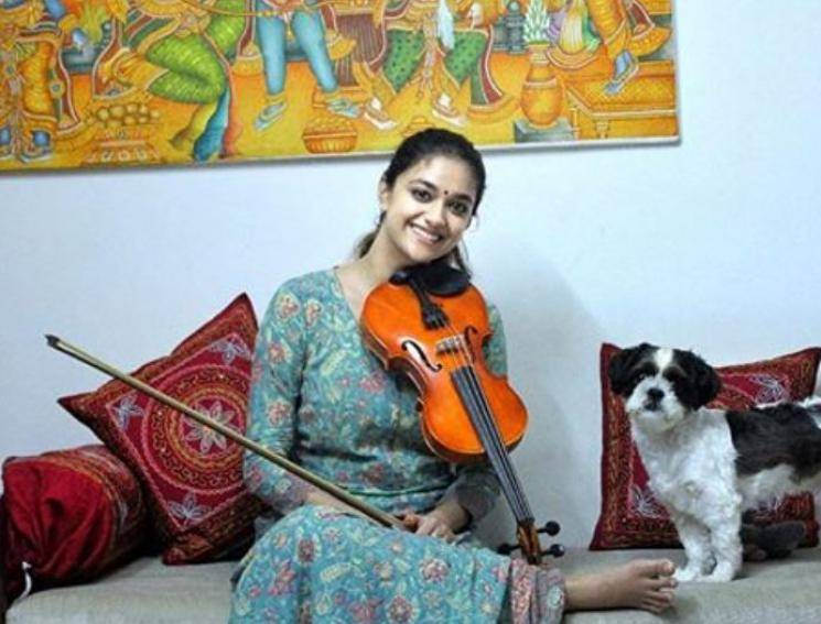 Keerthy Suresh Gets Back To Learning Violin During Lockdown