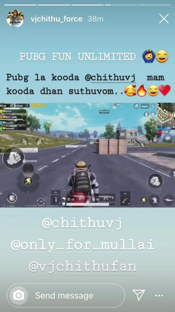 Pandian Stores Chithu Vj Plays Pubg With Fans