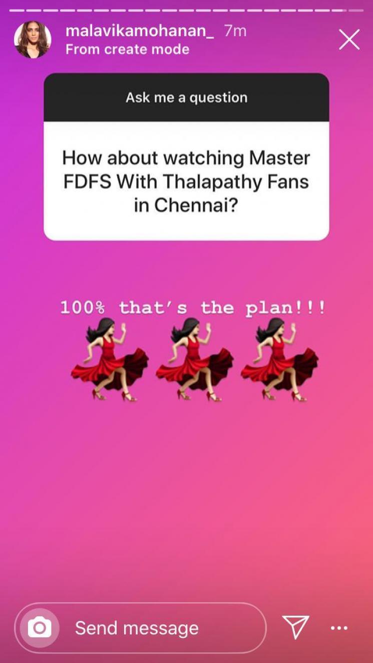 Master FDFS in Chennai Malavika Mohanan Opens up