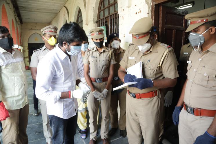 Actor Soori Gets Autograph From Policemen
