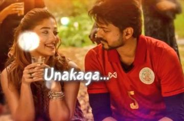 Bigil Unakaga Lyric Video Vijay Nayanthara ARR