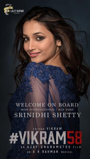 Srinidhi Shetty Joins Cast of Chiyaan Vikram 58