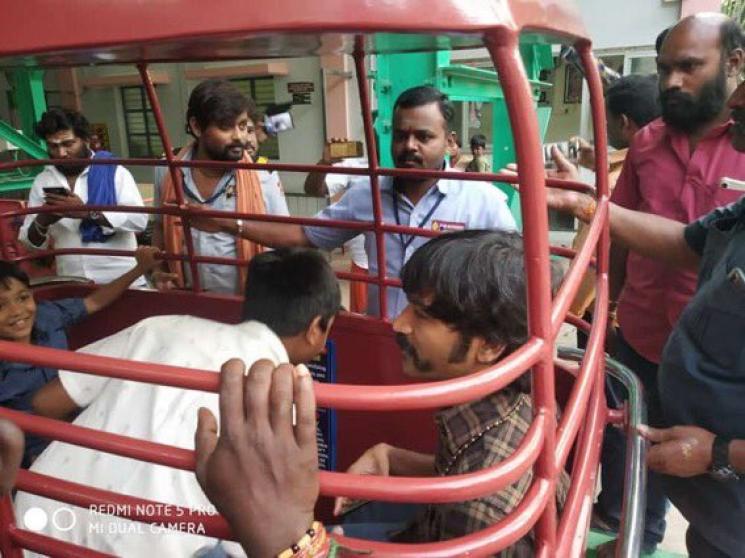 Dhanush in Palani Temple Inbetween D40 Shooting