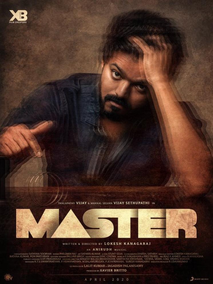 Master Third Look Poster Vijay Vijay Sethupathi