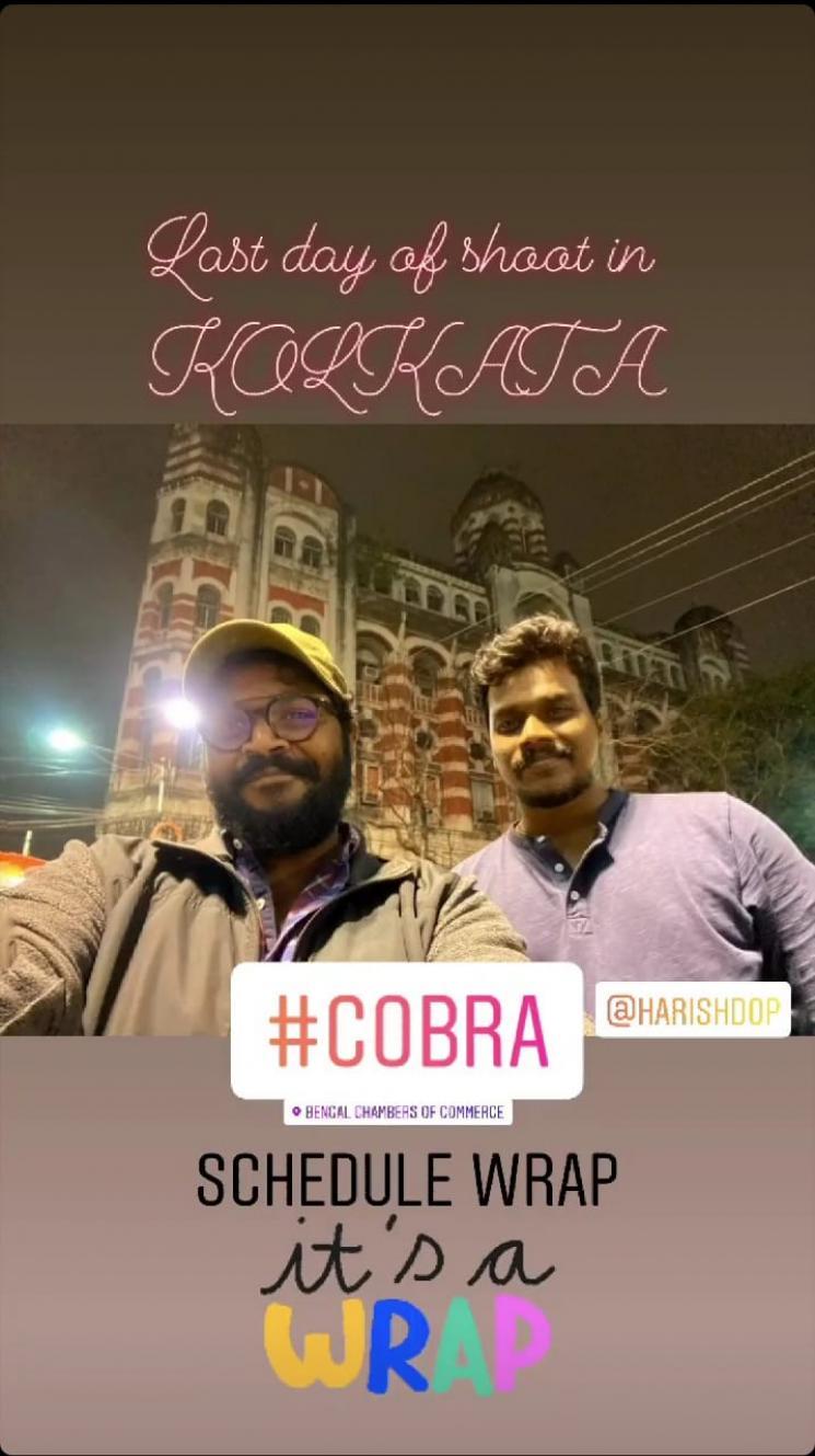 Vikram Cobra Kolkatta Schedule Shoot Wrapped