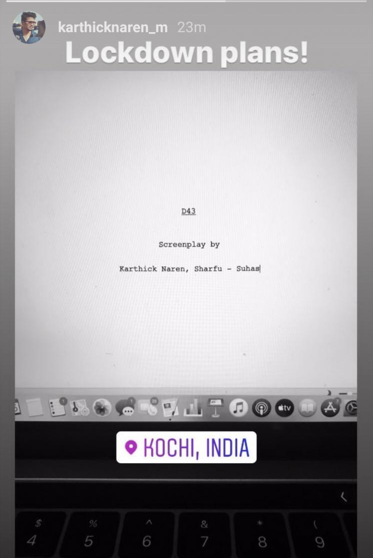 Dhanush D 43 Screenplay Work By Karthick Naren