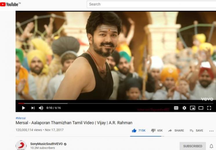 Mersal Aalaporan Tamilan Video Song 120 Million