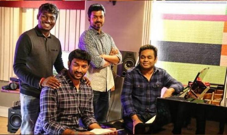 AR Rahman Sings Verithanam Viral Video Bigil Vijay