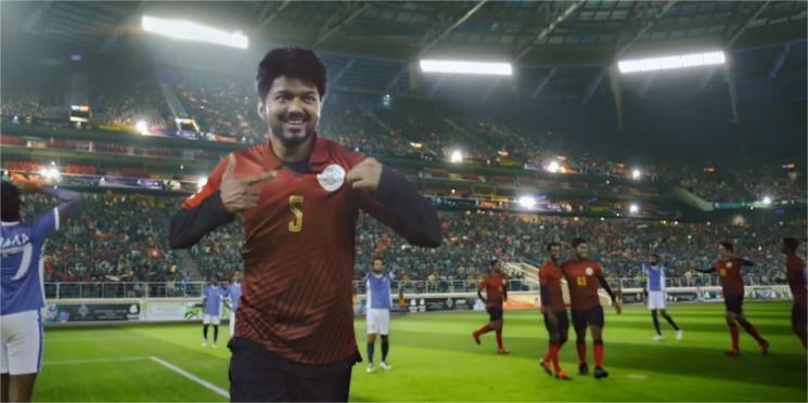 Bigil Football Scenes Making Shares DOP GK Vishnu