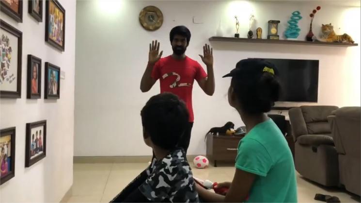 Soori Awarness Video With His Kids Corona
