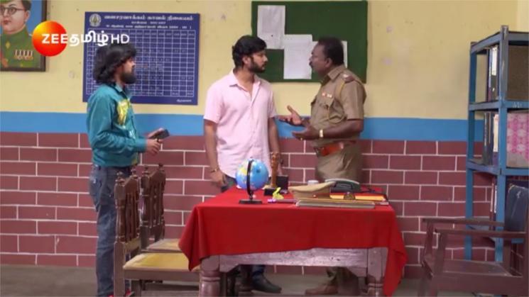 Prabhu Reaches Police Station Sathya Serial