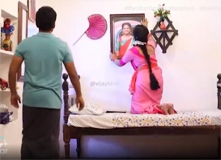 Kathir Gives Mullai PhotoFrame As Gift For Mullai