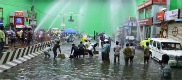 Comali Flood Making Sequence Jayam Ravi Kajal