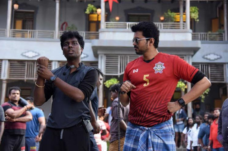 Atlee Shares An Unseen Picture From Bigil Shooting