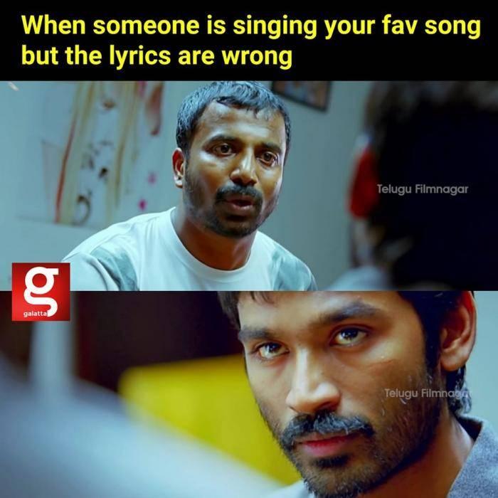 singing song lyrics wrongly - Tamil Memes