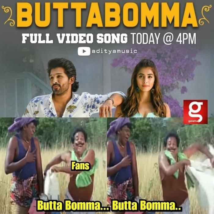 Butta Bomma Video song - Tamil Memes