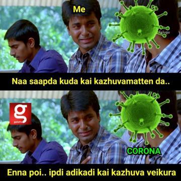 corona hand wash meme - Tamil Memes