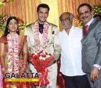 Superstar Rajinikanth attends Arulnithi's wedding reception
