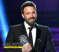 Ben affleck wins award for 'Argo', thanks his wife!