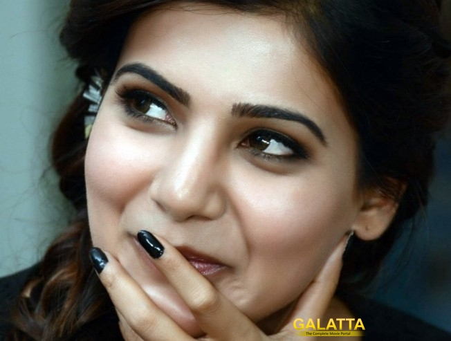 samantha in irumbu thirai press meet