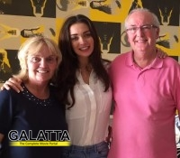 Amy Jackson's Movie Date with Her Parents
