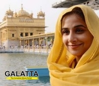 Vidya seeks blessings at The Golden Temple!