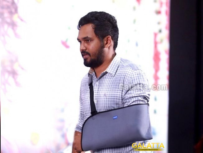 Hiphop Tamizha Injured And Attends Kalakalappu 2 Audio Launch