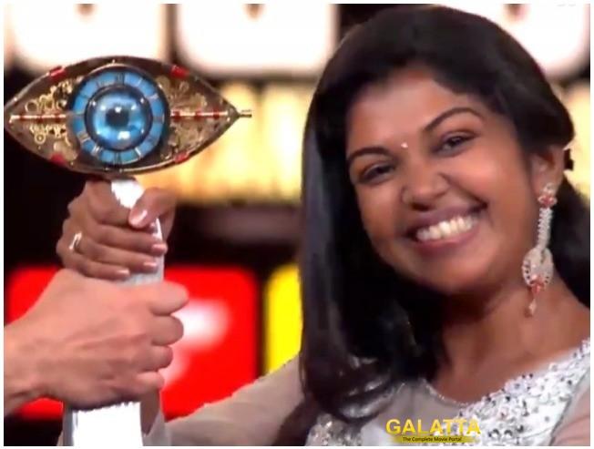 Bigg Boss 2 Riythvika Bigg Boss Winners Speech Bigg Boss Tamil
