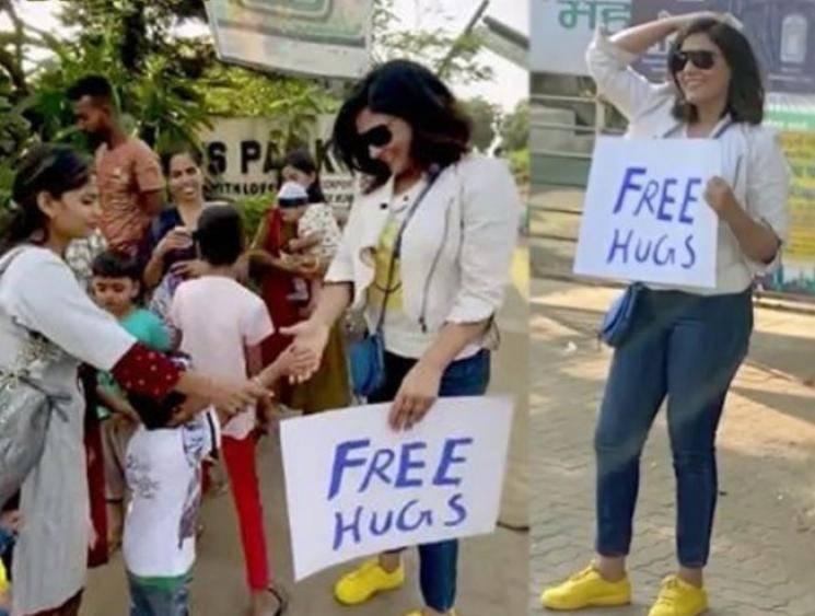Actress Richa Chadda hugging strangers on the road viral video - Tamil Movie Cinema News