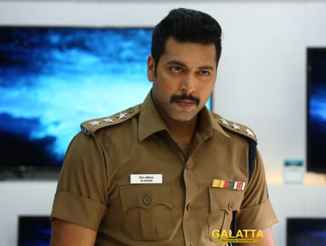 Jayam Ravi in action mode for Bogan
