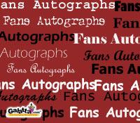 Whose autograph do you want?