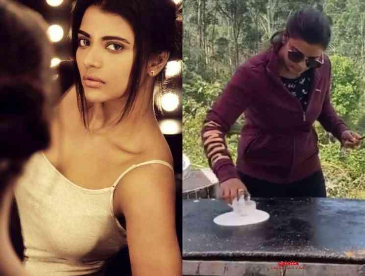 Aishwarya Rajesh dosa cooking viral video at shooting spot - Tamil Movie Cinema News