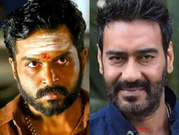 Ajay Devgn officially announced to play Karthi's role in Kaithi Hindi remake - Tamil Cinema News