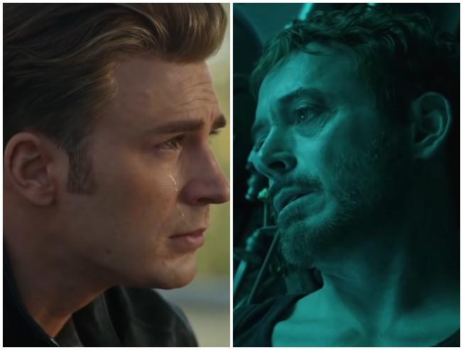 Avengers Endgame Captain America Iron Man Scene Cut Tony Stark Steve Rogers