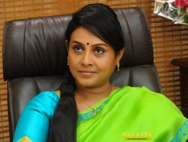 Saranya plays a negative character in Achamindri