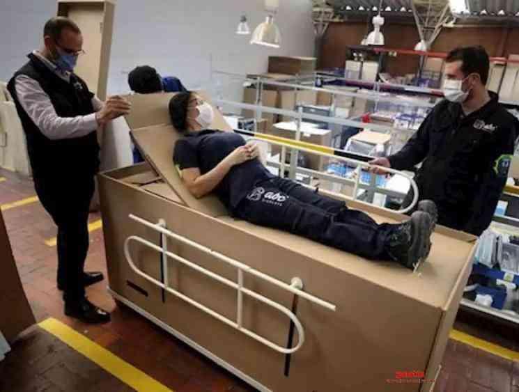 Colombian businessman creates Coronavirus bed coffin combo - Tamil Movie Cinema News
