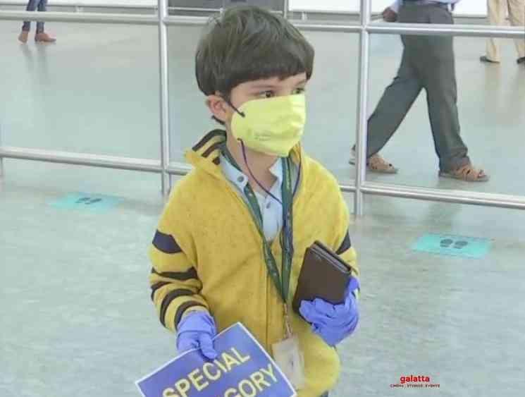 Coronavirus Five year old boy flies alone from Delhi to Bengaluru - Tamil Movie Cinema News
