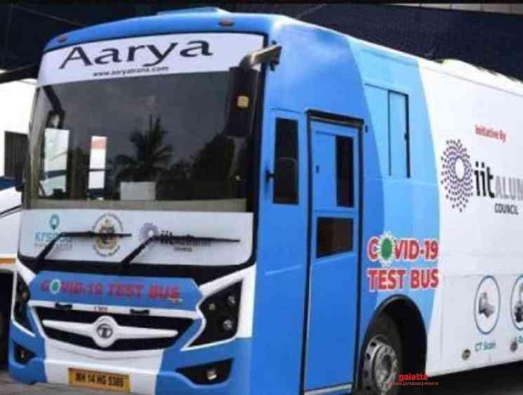 Coronavirus testing bus launched in Mumbai first in the world - Tamil Movie Cinema News