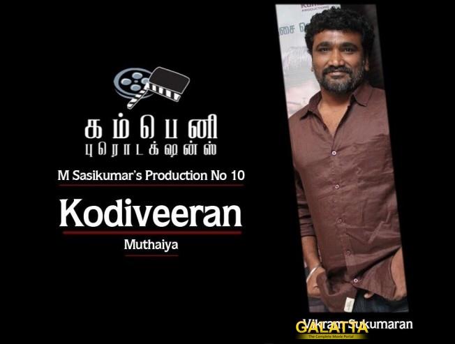 Sasikumar's Kodiveeran Gets a Director as Villain