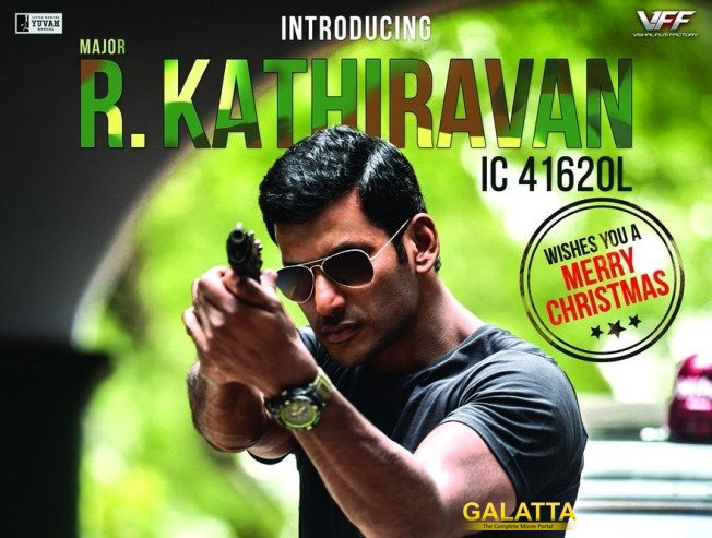 vishal plays major r kathiravan in irumbu thirai