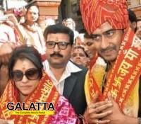 Ajay Devgn and Kajol at Shaumbhari Devi Temple!